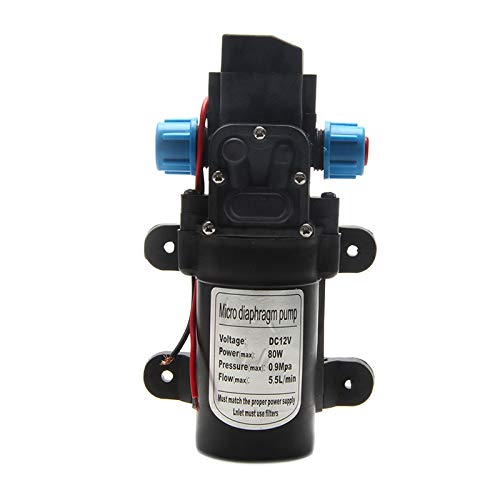 k DC 12V 70W 0142 Membranwasser Selbstansaugende Pumpe 6L / Min ()