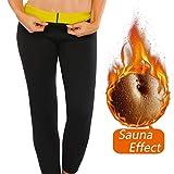 NOVECASA Gilet Sauna Homme Néoprène/Pantalon Court Shorts Transpiration Gymnastique Combustion des Graisses pour Fitness Yoga (2XL, Pantalon)