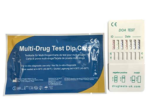 4 x Drogenschnelltest Multiscreen 7 - Bestimmung von 7 Drogenarten mit einem -