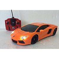 Price comparsion for Lamborghini Aventador Orange Car LP700-4 R/C Radio Remote Control Car LED Lights Dynamic Speed Scale 1:18 Car