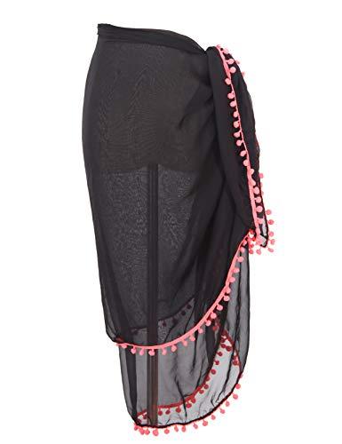Große Sarong Beach Cover Up Wrap Beachwear Rock Kleid für Frauen mit Pom Pom Quaste - Bademode Cover Up Rock Kleid