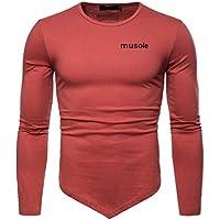 ¡Gran promoción!Camisas para Hombre Rovinci Invierno Irregular Color sólido Deportes con Capucha Remiendo Carta Impresa Manga Larga Tops Blusas