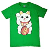 Photo de Maneki-Neko Lucky Cat T-shirt des Hommes par My Icon Art & Clothing