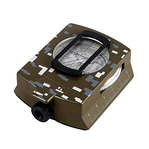 KLQQL Multifunktionaler Outdoor-Kompass Kartenmaßstab Mini-Profi-Kompass Mit Leuchtkompass Olds Service Handbuch