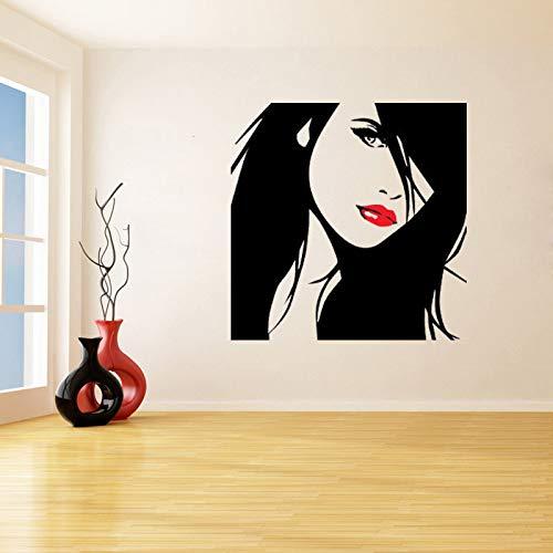 jiuyaomai Schöne Silhouette Von Entfernbare Wandaufkleber Für Schlafzimmer Wohnkultur Vinyl Aufkleber Wohnzimmer Kunst Decor blau 100X100 cm -