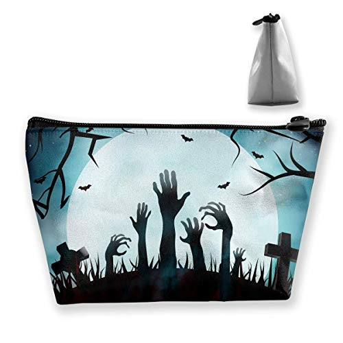 Happy Halloween Zombie Cemetery Medium Cosmetic Makeup Bag Travel Pouch Carry Case (Gefrorenen Make-up Halloween)