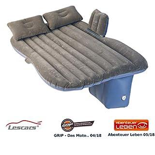 Lescars Auto Matratze: Aufblasbares Bett für den Auto-Rücksitz, mit Kissen und Fußraum-Stütze (Auto Luftbetten)