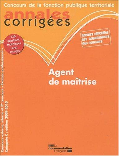Agent de Maitrise - Categorie C Edition 2009-2010