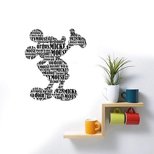 Wandtattoo Wohnzimmer Mickey-Mouse-Kunst-Plakat-Schönheits-Karikatur für Kinderzimmer Babyzimmer Verzierungs-Mode-Abziehbilder für Kinderzimmer Mode-verzierungen