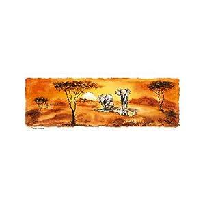 Renkalik renkalikqsipo024p 25x 70cm animali Della Savana 2Hoja de Papel de póster de impresión de Seda (Juego de)