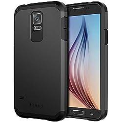 JETech Coque pour Samsung Galaxy S5, Deux-Couche, Noir