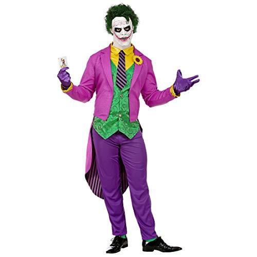 NET TOYS Tolles Joker-Kostüm für Männer | Violett-Grün in Größe S (48) | Extravagantes Herren-Outfit Bösewicht | Perfekt geeignet für Halloween & Karneval