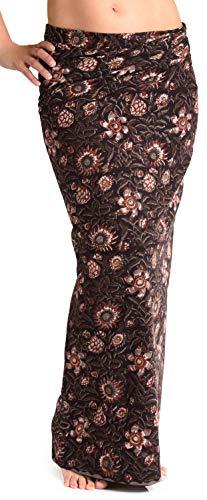 ufash Damen Sarong Lungi Pareo Rock aus Indien, traditionell handbedruckt, Unisex für Männer und Frauen. Boho Gipsy & Hippie Röcke, Schwarz 3