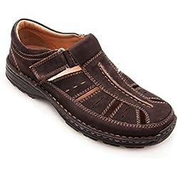 Sandalias de cuero acolchadas para hombre. Deportivas y cómodas. Calidad garantizada. Envio gratis en 24/48 hrs. Sandalia de piel. 100% Natural.