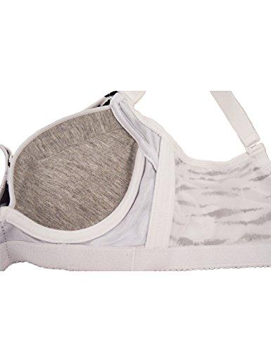 CIDEARY Frauen Push Up BH 3/4 Cup Verdrahtet Jeden Tag BH Atmungsaktiv Komfortable Unterwäsche Zebra Muster