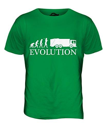 CandyMix Müllwagen Evolution Des Menschen Herren T Shirt Grün