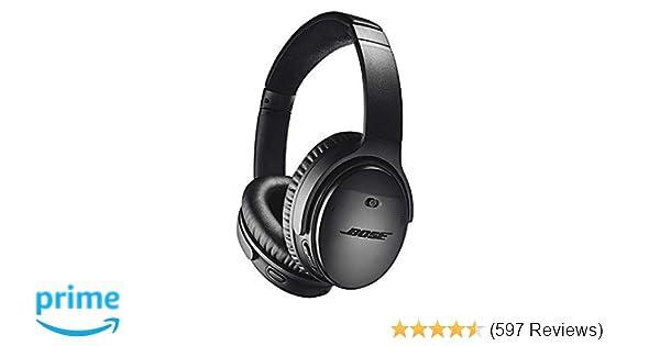 41d5e3e86 Bose QuietComfort 35 (Series II) Wireless Headphones, Noise Cancelling with  Amazon Alexa - Black