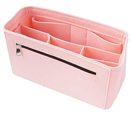 Rosa Tasche Organizer (Classic Slash Taschenorganizer Filz für Speedy 30 Neverfull MM Large und Taschen ab 30cm Innenmaß I Rosa)