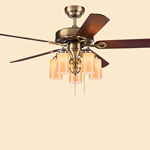 LW - ventilatore lampada ristorante ventilatore a soffitto soggiorno semplice