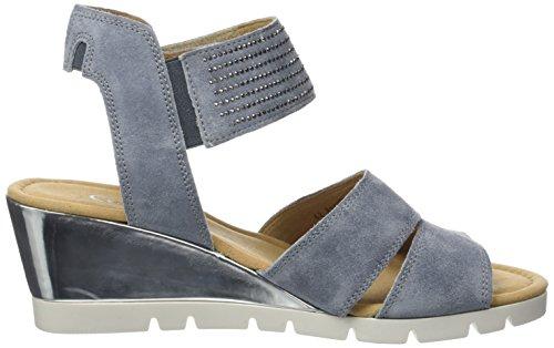 Gabor Shoes Comfort, Sandali con Zeppa Donna Blu (denim Specc)