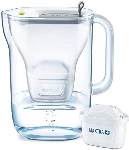 BRITA Wasserfilter Style hellgrau inkl. 1 MAXTRA+ Filterkartusche - BRITA Filter in modernem Design zur Reduzierung von Kalk, Chlor & geschmacksstörenden Stoffen