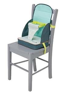 Safety 1st 27547740 - Stuhl-Sitzerhöhung Travel Booster für unterwegs, ab 18 Monate, splash grey