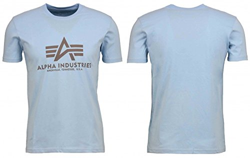 Alpha Industries T-Shirt Basic, Größe:M, Farbe:Air blue (Sport-industrie)