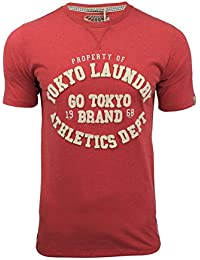Mens Tokyo Laundry Montauk Embroidered Motif Front T Shirt Crew Neck Cotton Tee Top