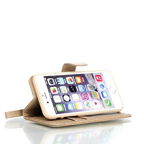 iPhone Case Cover IPhone 6S Fall-Abdeckung, spinnender Muster PU-lederner schützender Fall-Mappen-Standplatz-Fall mit Kartenschlitzen und Fotorahmen für Apple IPhone 6S 4.7 ( Color : 3 , Size : IPhone 4
