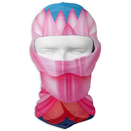 Wdskbg Balaclava Pink Floral Full Face Masks Ski Mask Motorcycle Hood for Cycling Sports Hiking Multicolor5