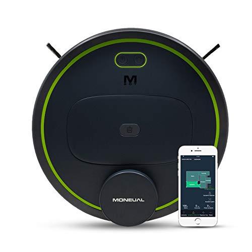 MONEUAL MBOT900 Premium Saugroboter mit wischfunktion, selbstladend, App & WLAN, Laser, 3 Stufen Saugleistung, Live-Karte, detaillierte Reinigungsplanung, 400ml Schmutzbehälter, 90 min Laufzeit.