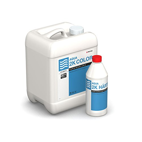Wasserlack / Parkettlack AQUA 2K Color von RETOL, halbmatt (4,95 kg)