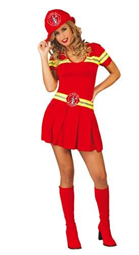 Guirca Feuerwehrmann Feuerwehrmann Feuerwehrmann für Damen, Rot, 38/44, 80740 (Sexy Feuerwehr Frau Für Erwachsene Damen Kostüm)