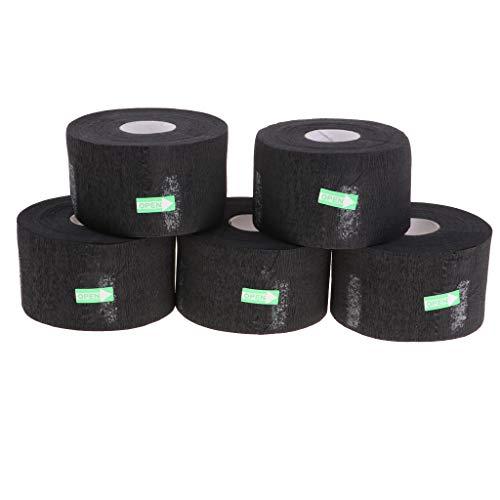 Hellery 5 Rollos de Papel de Cuello Absorción de Agua para Mantiene Capa de Barbero Seca y Limpia