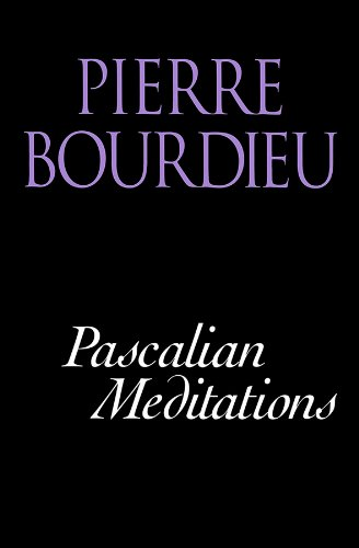 Pascalian Meditations por Pierre Bourdieu