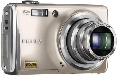 Fujifilm Finepix F80EXR Digitalkamera (12 Megapixel, 10-fach opt.Zoom, 7,6 cm Display, Bildstabilisator) silber