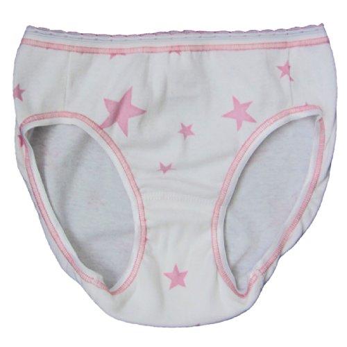 3777a828b0 HERMKO 2130.10 Mädchen Slip 'Sterne' aus 100% Baumwolle, Unterhose mit  ÖKO-Standard 100 aus Naturfaser, Schlüpfer direkt ab Fabrik