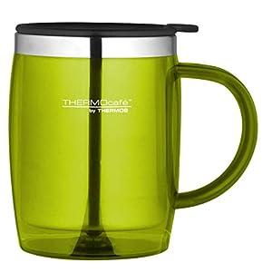 ThermoCafé by THERMOS 4059.277.035 Bürotasse Desktop Mug, Kunststoff Lime 0,35 l, BPA-Free