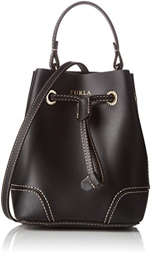 Furla Stacy Onyx A Donna DrawstringBorse Mini Secchiello Nero QsdrChxt