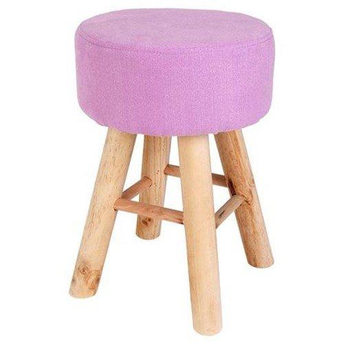 Holzhocker Violett Sitzhocker Polster-Hocker Fußhocker Schminkstuhl Holz