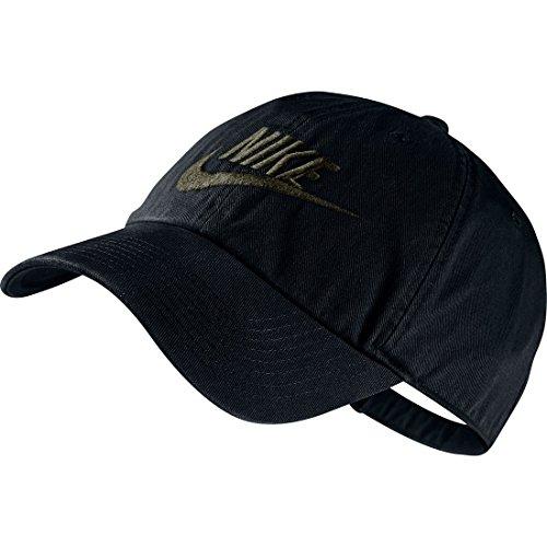 NIKE Erwachsene Kappe Heritage 86 Futura, Black/Medium Olive, One size, 626305-010