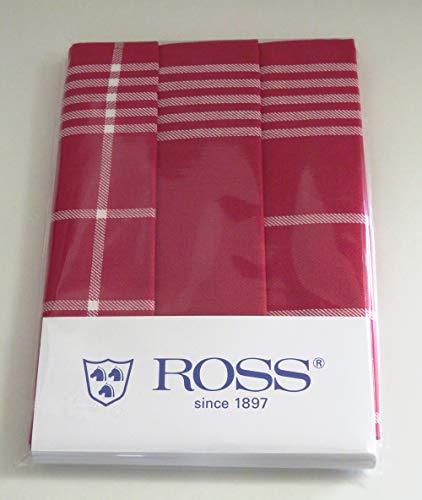 Ross 3er Pack Baumwoll-Geschirrtücher 1837 rot, 3- Pack 50x70 cm (Baumwoll-geschirrtücher Rot)