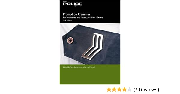 Promotion Crammer For Sergeants And Inspectors Part 1 Exams Janes Police Review Pt Amazoncouk Tom Barron Julianna Mitchell 9780710628664