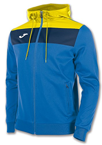 Joma Jacket Polyfleece Crew Royal/Yellow/Navy, Taglia: XXL