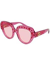 c90ae0b9a3db90 Amazon.fr   Gucci - Rose   Lunettes de soleil   Lunettes et ...