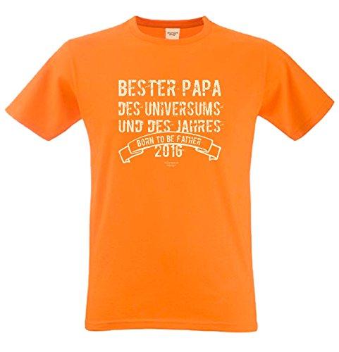 Bester Papa des Universums Papa Großvater Geschenke Set Vatertag Sprüche Fun T-Shirt & Minishirt Farbe: orange Orange
