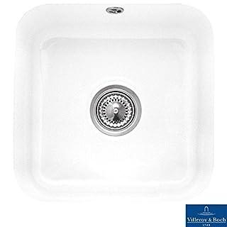 Villeroy & Boch Cisterna 50 1.0 Bowl White Ceramic Undermount Kitchen Sink - NO WASTE