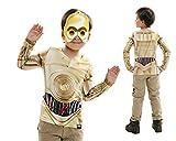 Disfraz Camiseta de Star Wars C3po Original de Carnaval para niño de 8-10 años de Microfibra - LOLAhome