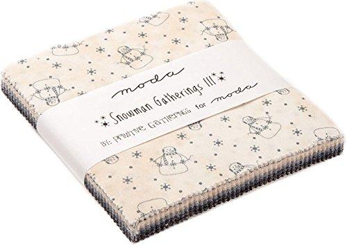 Moda Fabric Snowman Gatherings III Charm Pack -