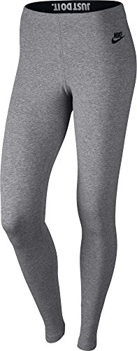 Nike Oberbekleidung Leg A See Just Do It Tights Leggings, Carbon Heather/Black, XS (Für Nike Mädchen Spandex)